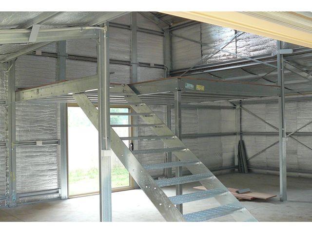 Barn With Mezzanine Floor Photo 3 Metal Building Homes Mezzanine Floor Building A House
