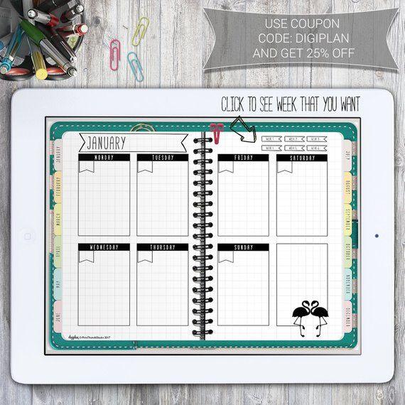 Digital Planner for GoodNotes Notability Planner Digital