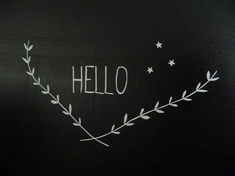 sticker Hello étoile - stickers muraux - Little paper  - Fait Maison