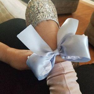 911f823c3 IVORY SATIN Slide Flat Sandals with Satin Bow - Bridal Sandals, Bridesmaids  Sandals, Wedding Sandals