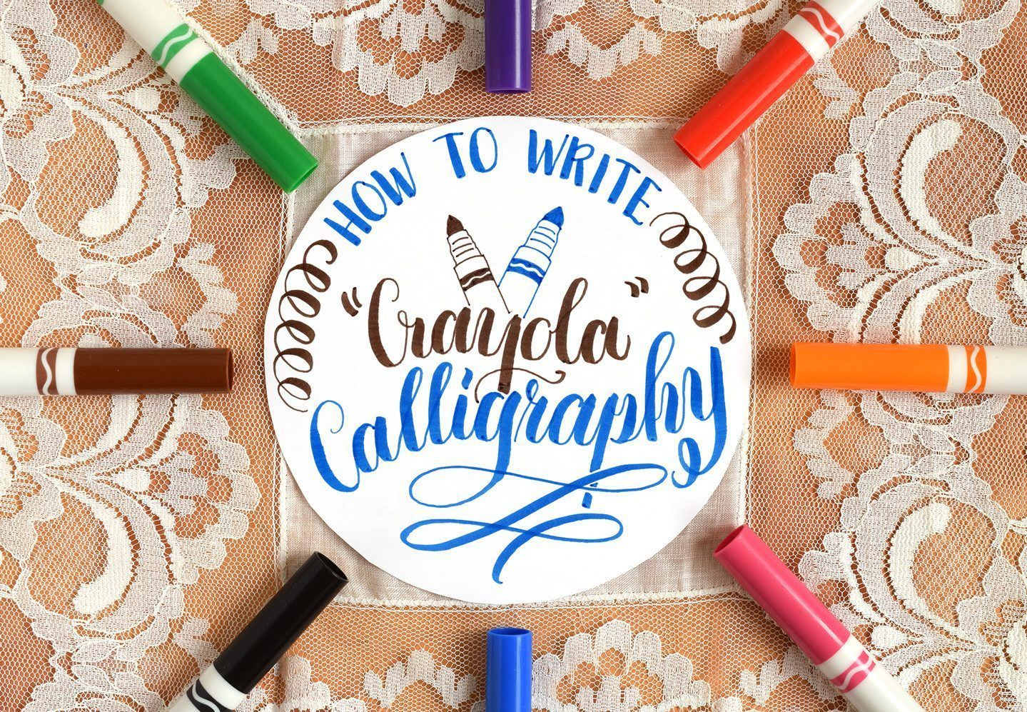 How To Write Crayola Calligraphy