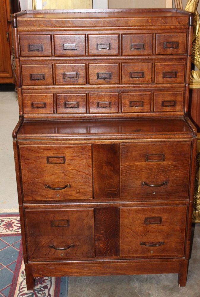 antique oak library card catalog file cabinet ebay wet bar rh pinterest com antique library card file cabinet