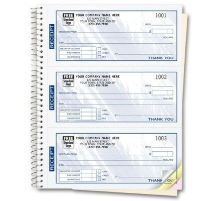 Invoice Books Custom Pleasing Item 693T Size Nbsp 6 3 4 X 8 1 2 Personalized Receipt Books Color .