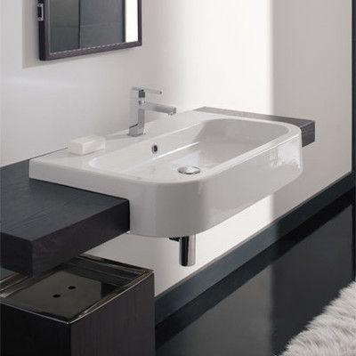 Semi Recessed Rectangular Bathroom Sinks Artcomcrea