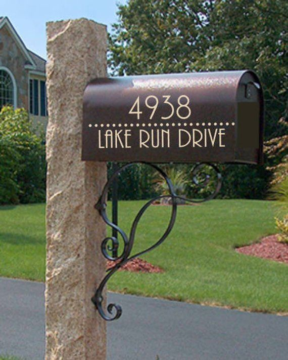 Christmas Gift Appeal: Mailbox Decal Personalized Street Address Decal Deer Buck