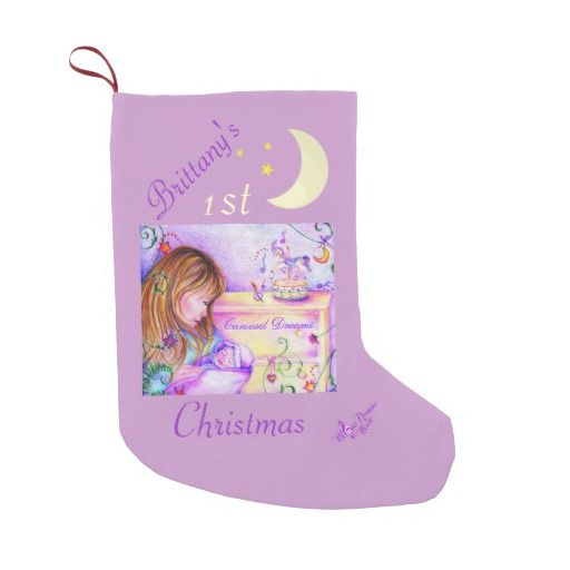 Carousel Dreams Baby\u0027s 1st Christmas Stocking Customizable by