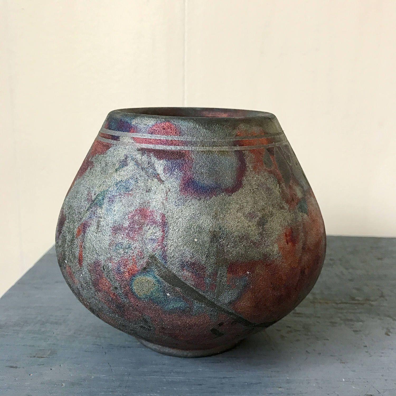 Handmade pottery vase vintage ceramic pot fired glaze purple handmade pottery vase vintage ceramic pot fired glaze purple black reviewsmspy