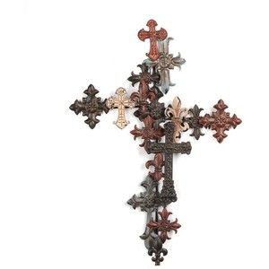 Metal Layered Cross Wall Plaque | Beautiful | Pinterest