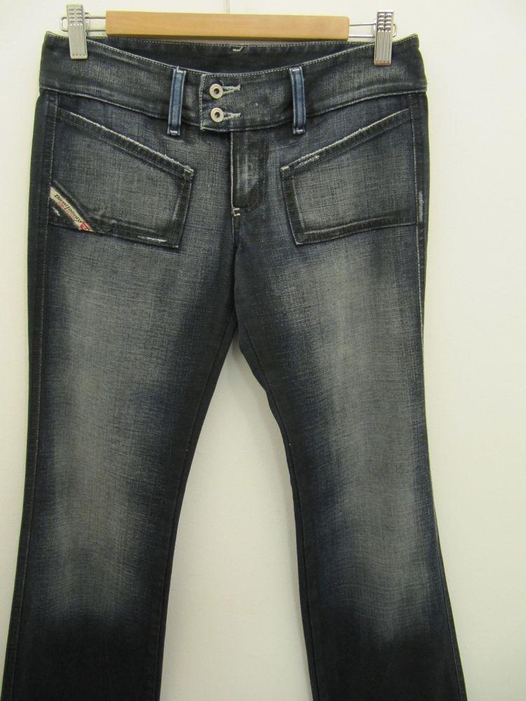 2a2c6563 Women's DIESEL HUSH Ds Dark Blue Straight Leg Jeans, Size W27 L32, Made in  Italy #DIESEL #StraightLeg