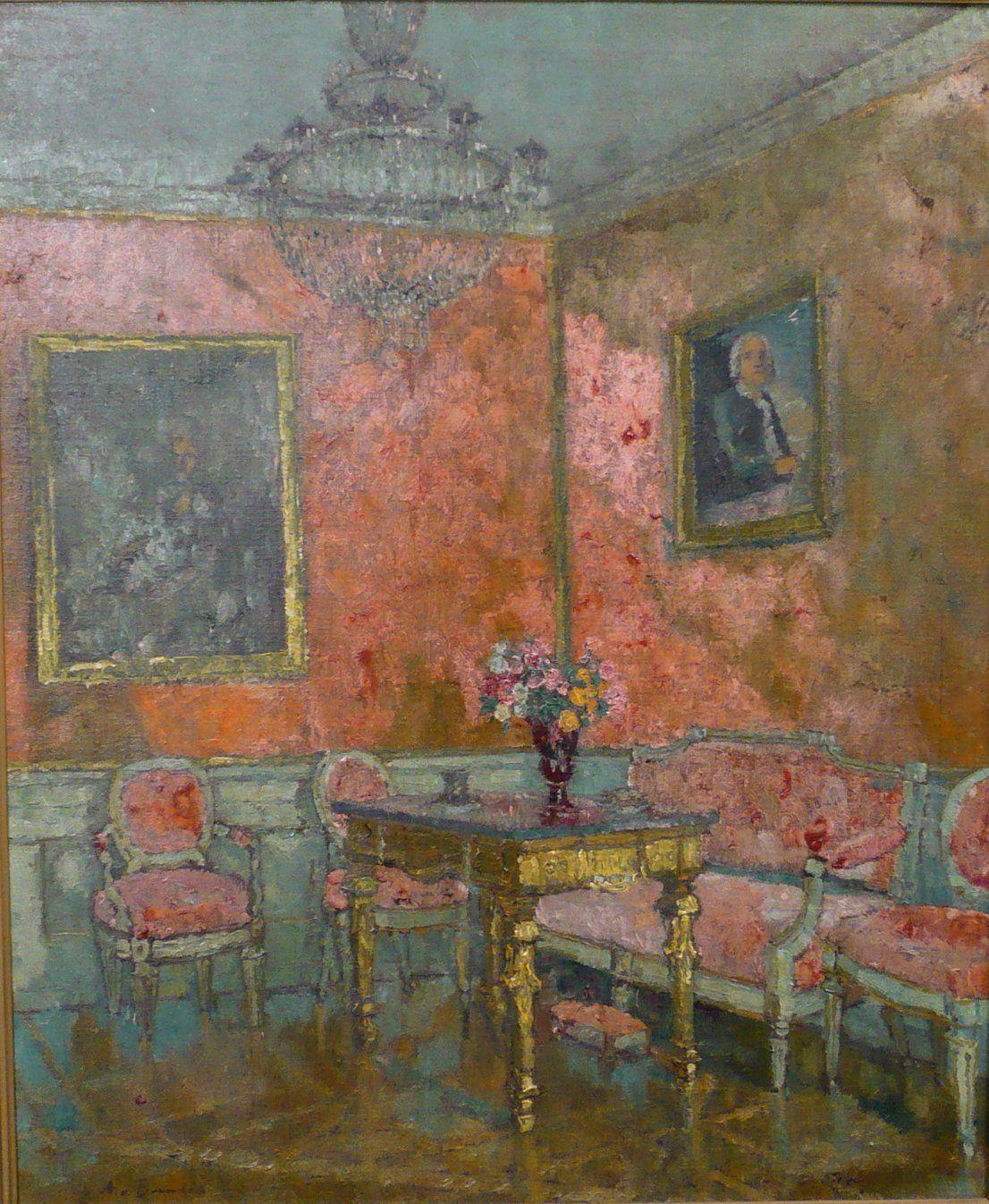 Landschaftsmalerei impressionismus  Weimarer Schloss , August von Brandis, German Impressionism ...