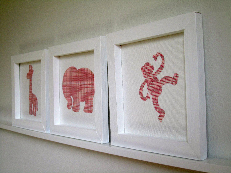 Framed pink zoo animals nursery art via etsy scooter