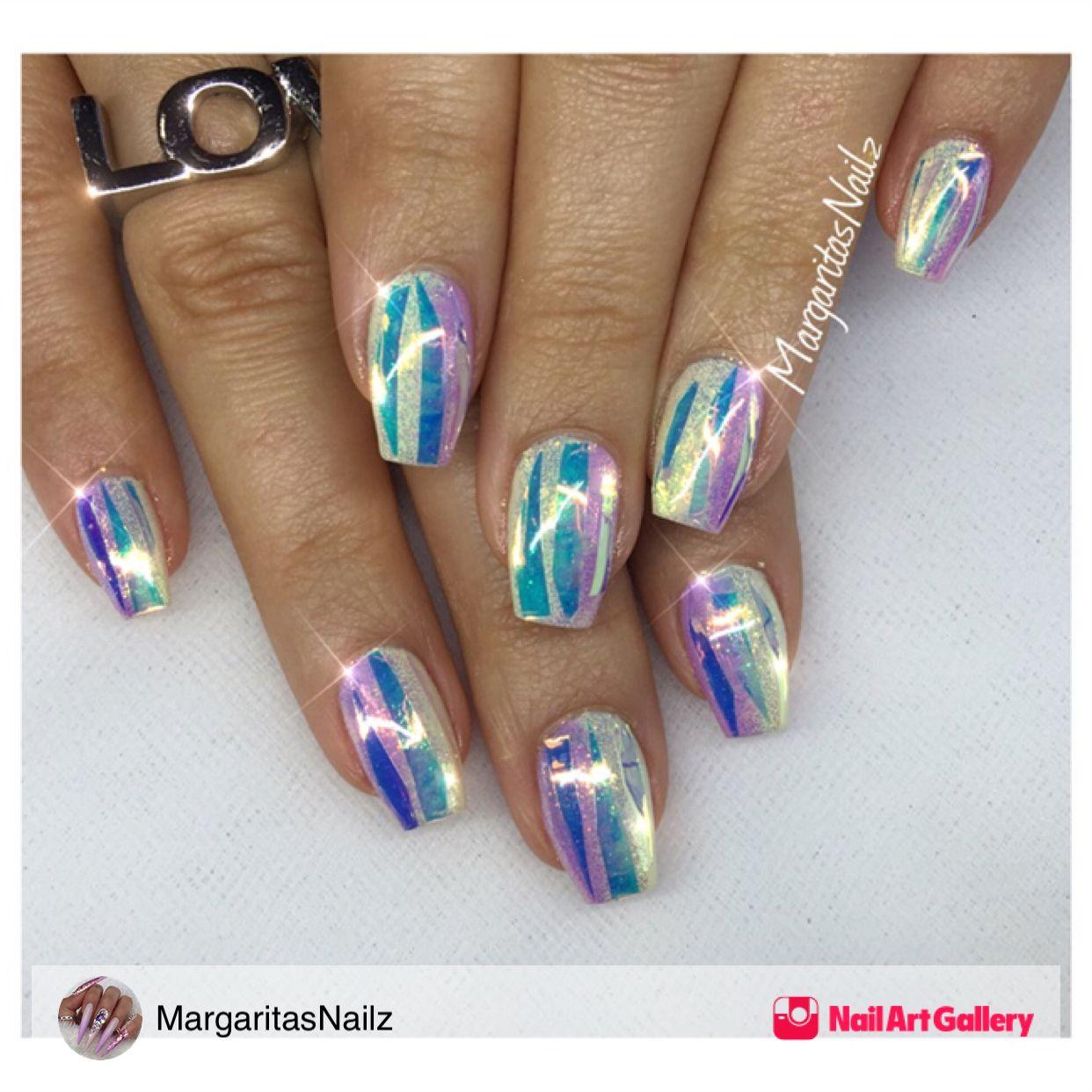 Shiny Glitter Nails by MargaritasNailz via @nailartgallery ...
