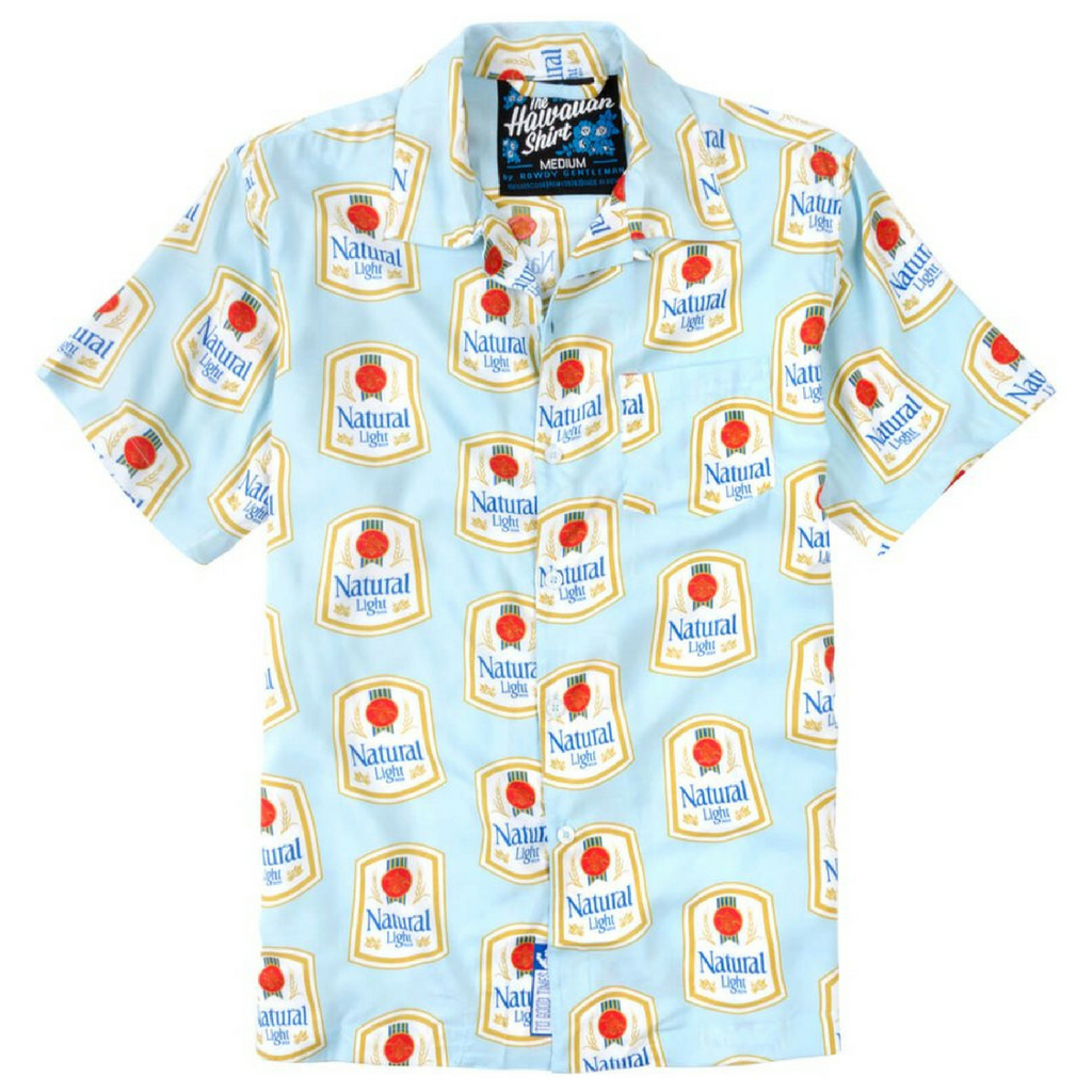 Natty Light Hawaiian Shirt Throwback Edition Just Plain Cool