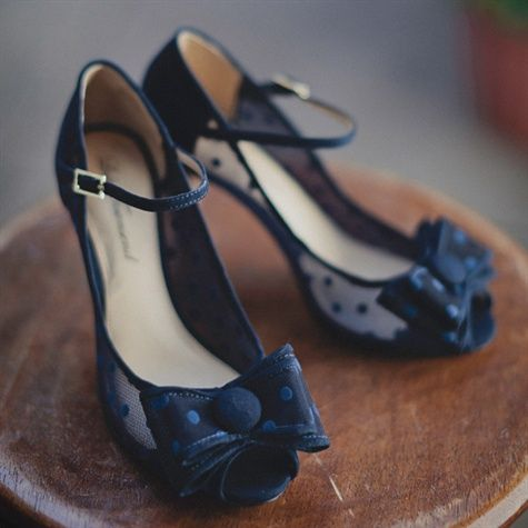 Blue Bridal Shoes with polka dots! | Happily ever after | Pinterest ...