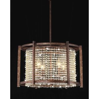 Antique Bronze 4-light Round Crystal Chandelier - Overstock Shopping - Great Deals on Otis Designs Chandeliers & Pendants