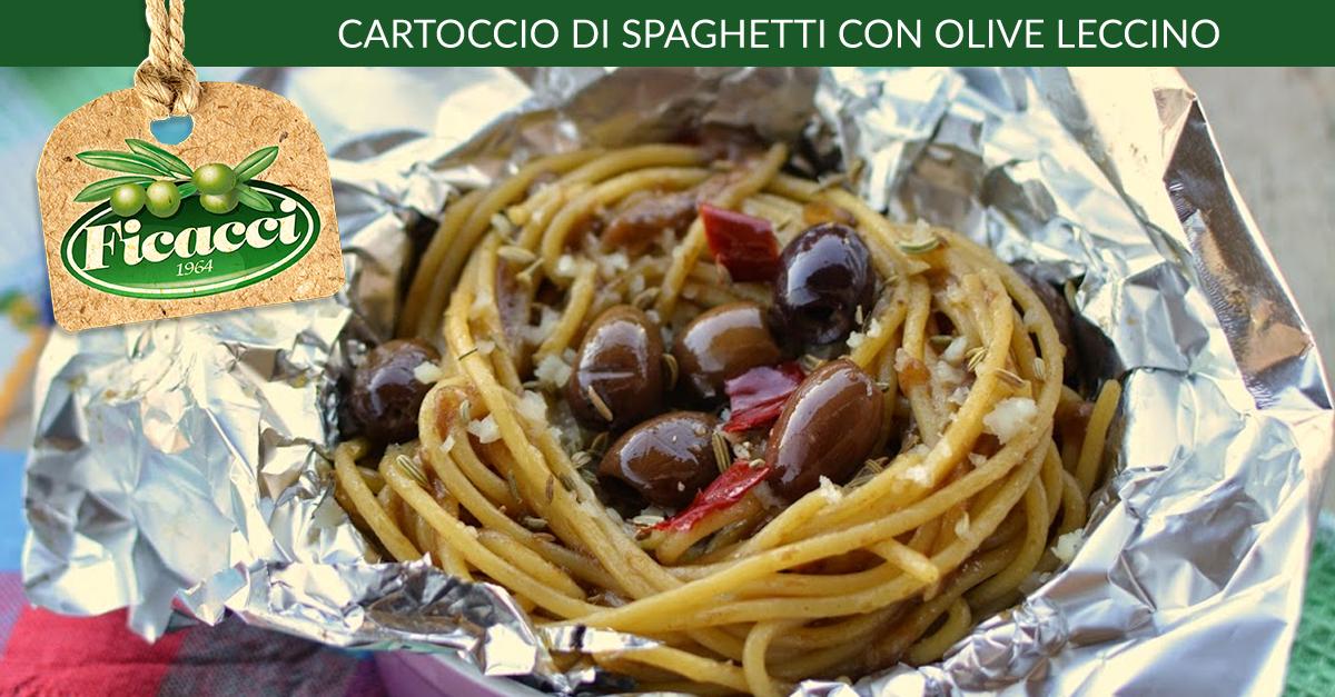 Cartoccio di Spaghetti con #Olive #Leccino. http://www.ficacci.com/ricetta-Cartoccio-di-Spaghetti-con-olive-Leccino-610/ ★Vota la ricetta e vinci le olive★ Partecipa al concorso settimanale!