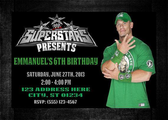 WWE John Cena Birthday Invitation Digital Copy by LaughySapphy