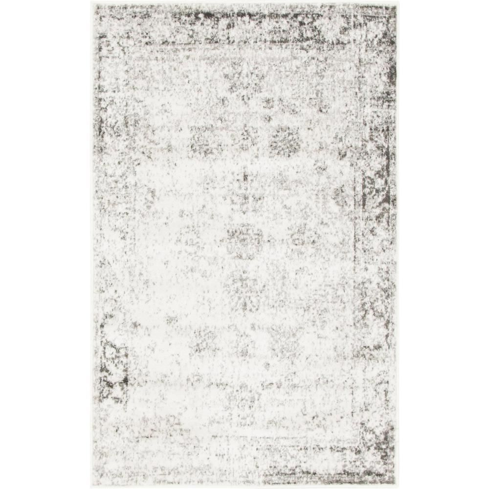 Unique Loom Sofia Casino Gray 3 3 X 5 3 Area Rug 3141286 Products Beige Area Rugs Rugs Colorful Rugs