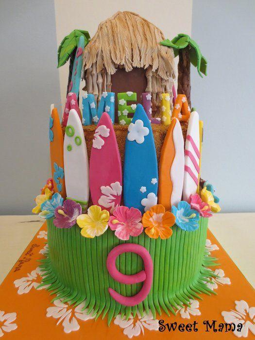 decoration gateau hawaii