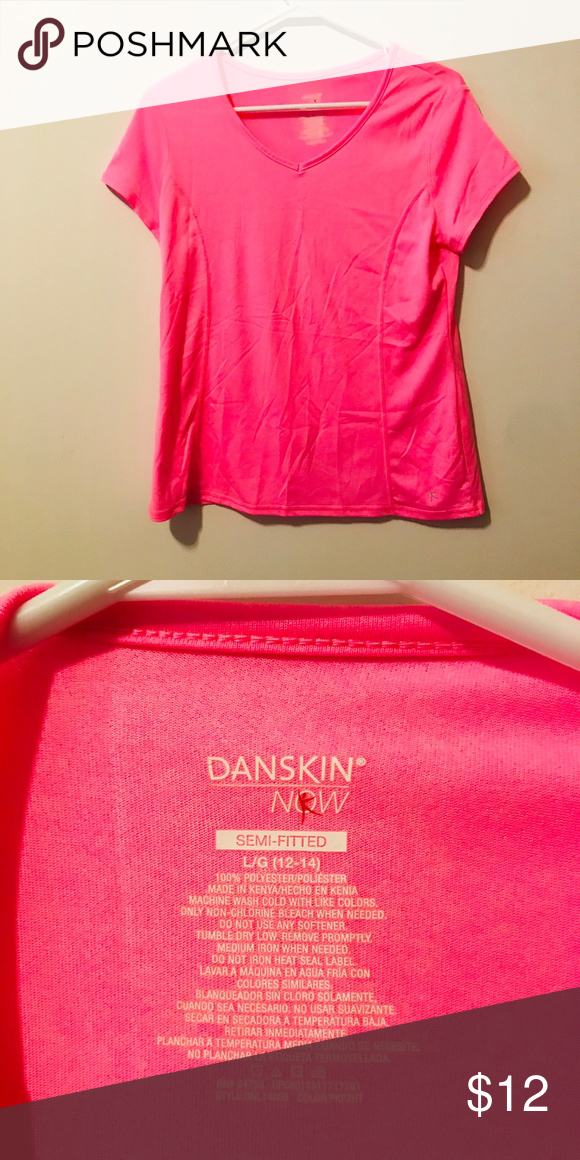 927e801d Danskin Now Pink SemiFitted 363 Perfect condition. Smoke-free and pet free  home Danskin Now Tops Tees - Short Sleeve