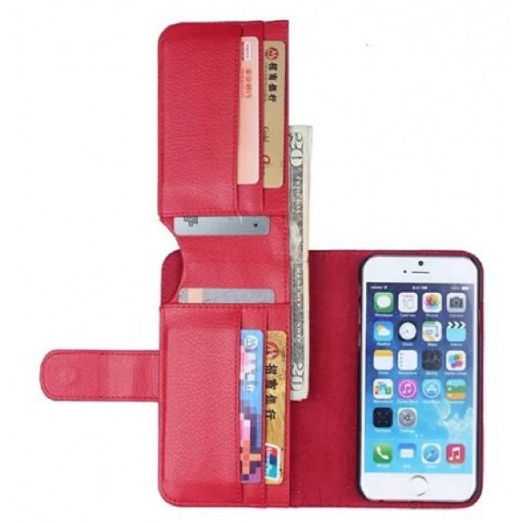 Multifunction Card Wallet case for iPhone 6 6s New Product Description 1.Material:Top pure handwork PU leather Lichee Grain Style Phone Cases; 2. 100% Brand new; 3. High-end/ Fashion / Luxury appearance design style; 4. With powerful functions:1 phone case & 1 cash slots & 6 card slots; 6. Fashion design, easy to put on and easy to take off; 7.Perfectly fits the shape & durable and washable; 8. Multi color choice: black, blue, red, pink, brown, white Accessories Phone Cases