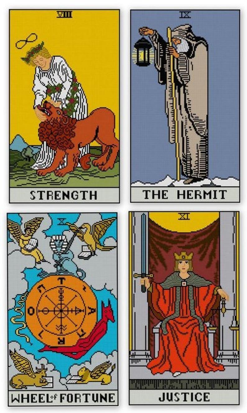 Major arcana tarot cards set cross stitch patterns pdf all