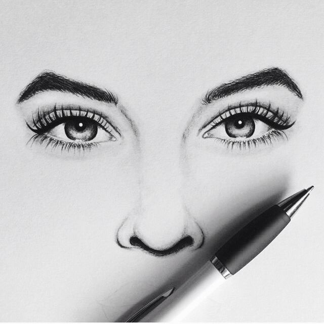 Eye Drawing: Be Yourself, Nobody Is Better. • **