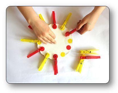 Un atelier pince linge en maternelle r aliser des - Activite pince a linge maternelle ...