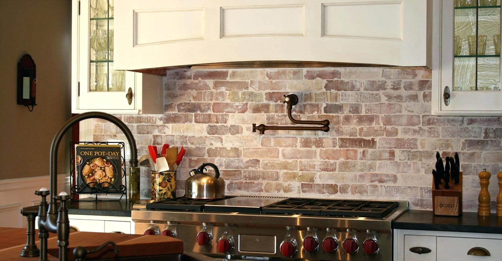 Faux brick tile backsplash latest kitchen cabinet brick tile coffee brown granite full size of brick ideas red tile white how to install stacked stone tchen