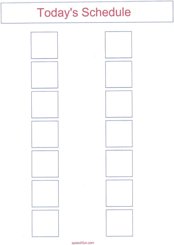 Picture Schedule Samples - Autism Spectrum Disorders | Autism ...
