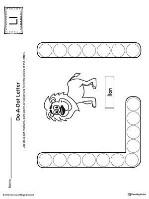 letter l do a dot worksheet alphabet worksheets letter l preschool letters preschool. Black Bedroom Furniture Sets. Home Design Ideas