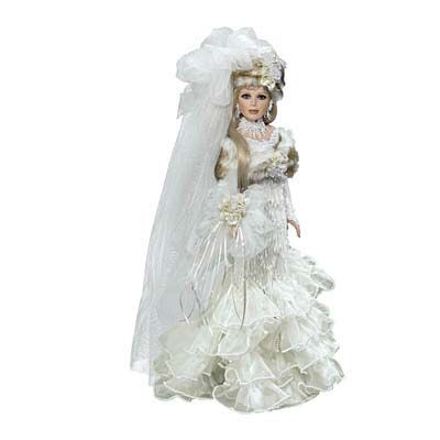 rustie dolls   Alexa, the Snow Bride Collector Doll by Rustie - The Danbury Mint