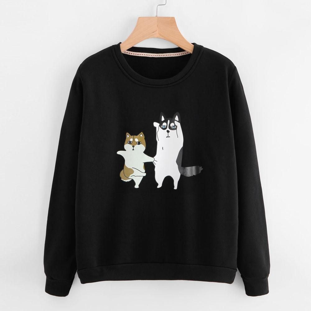 Dog Mom Women Sweatshirt Cute Dog Paw Graphic Pullover Long Sleeve O Neck Casual Tops T Shirt Blouse Dog Lover Gift