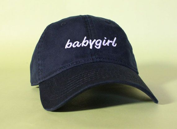 NEW babygirl Baseball Hat Dad Hat Low Profile White by BrainDazed · Dad  CapsCute ... 966826bbe408