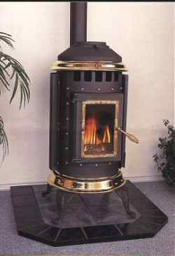 Gas Logs In Pot Belly Stove Parlour Stove Stove Pellet Stove