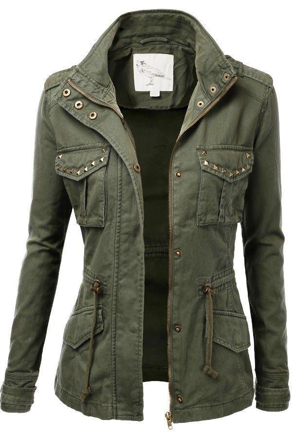 3b3e916d Adorable green military fall jacket for fashion | Feelin' oh so ...