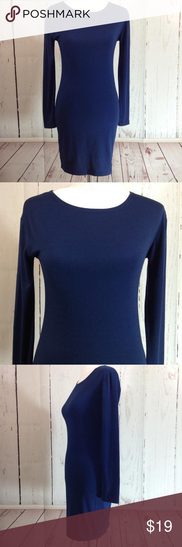 Piko blue long sleeve dress medium