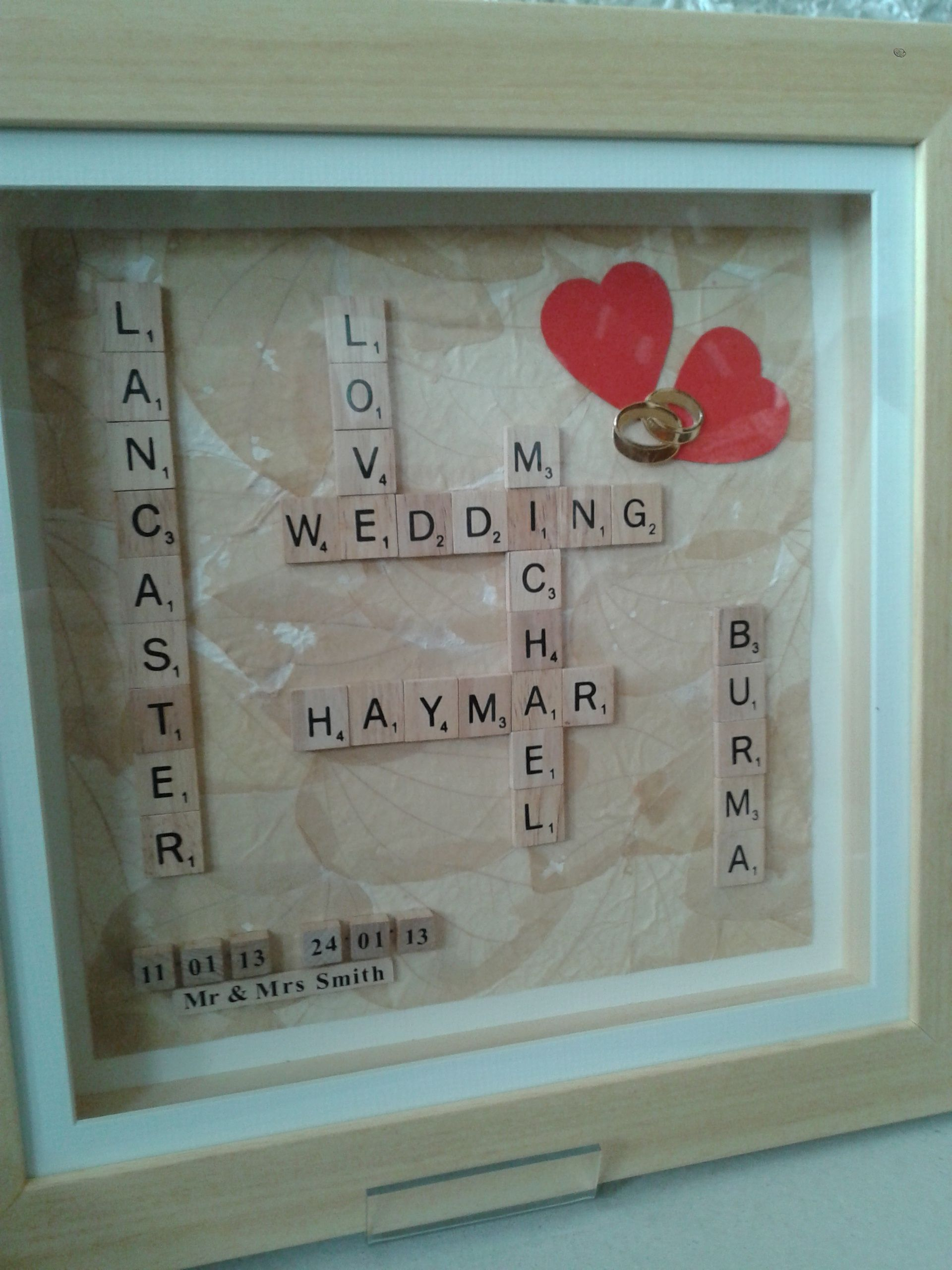 14 X Scrabble Frame Wedding Gift 75 Patchworkpapillon Gmail