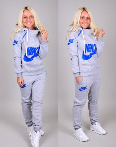 sweater nike style jumpsuit tracksuit longsleeve sweatpants sportswear  sporty chic hoodie pants and THOSE SHOES