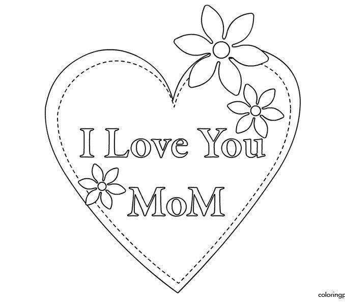 I Love You Mom Coloring Pages I Love You Mommy Coloring Pages In