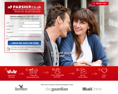 "Parship.co.ukparship co uk The dating website promises ""matching  personalities. Meeting"