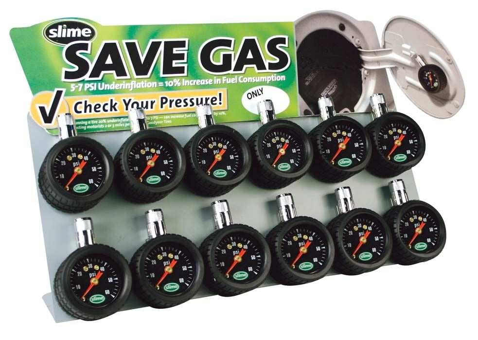 Having properly inflated tires will increase your fuel