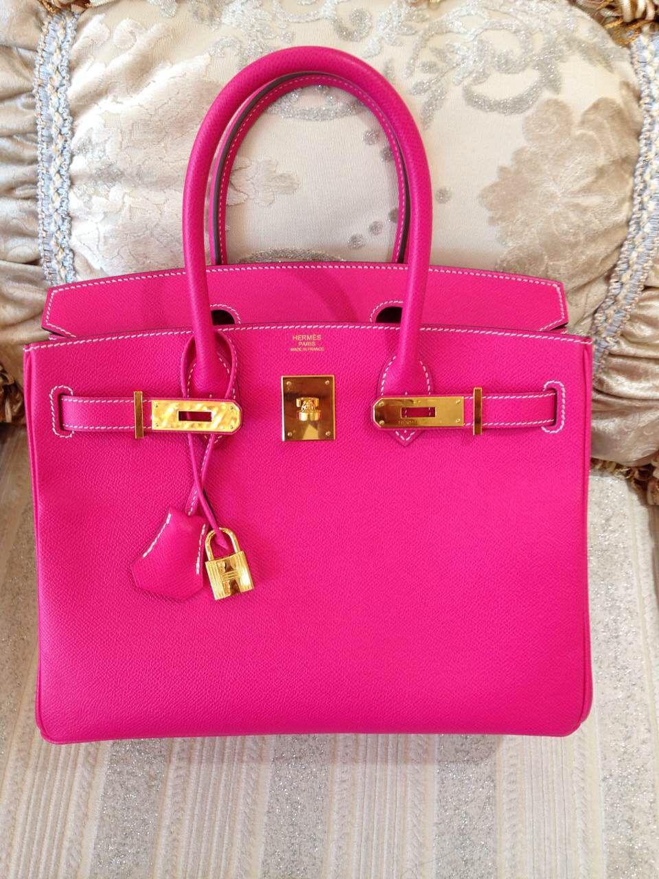 74dc94704664 Candy Color Pink Hermes Birkin Togo 30cm with Gold Hardware E5 Q Engraved  Stamp