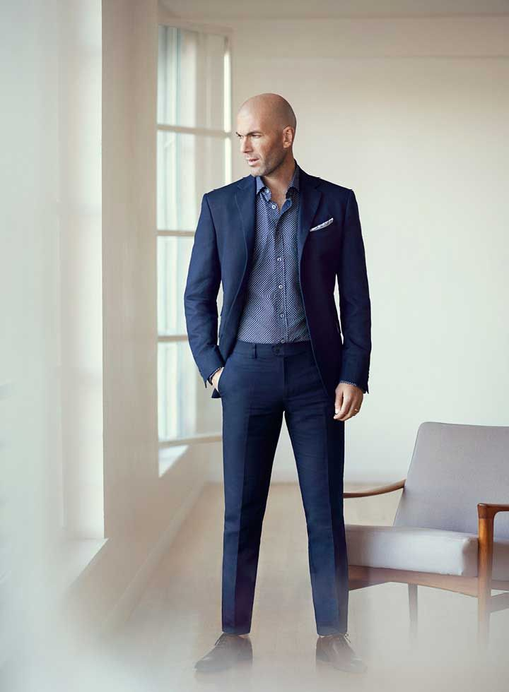 The former footballer Zinedine Zidane is the face of Mango Man for its new  Spring Summer
