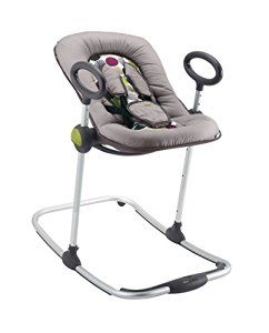 Baby Chair Rocker Cover Hire Geelong Beaba Up Down Bouncing 912111 Grey Black 4 Positions For Children To 9kg Amazon Co Uk