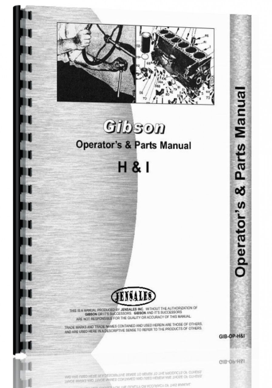 Gibson H Tractor Operators & Parts Manual Transmission