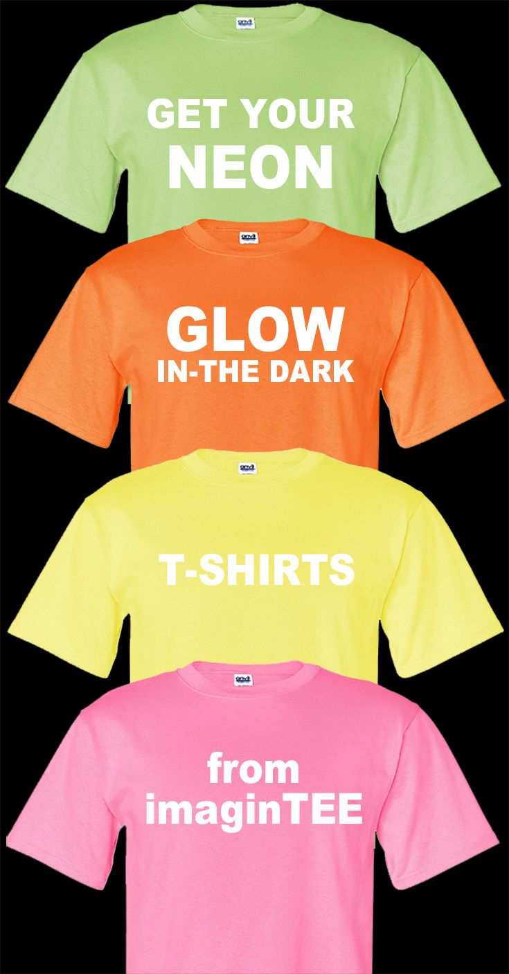 81fe2e93879ac Custom Glow-in-the-Dark T-shirt Screen Printing in 2019