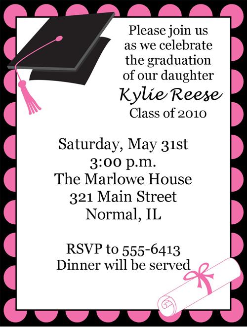 Pink graduation invitation graduation pinterest colored pink graduation invitation filmwisefo Images