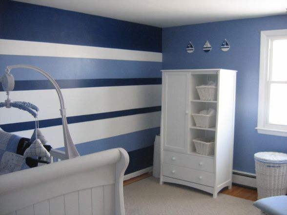 Nautica Nursery, My Husband Loves Sailboats So The Perfect Nursery For Our New Son Included The