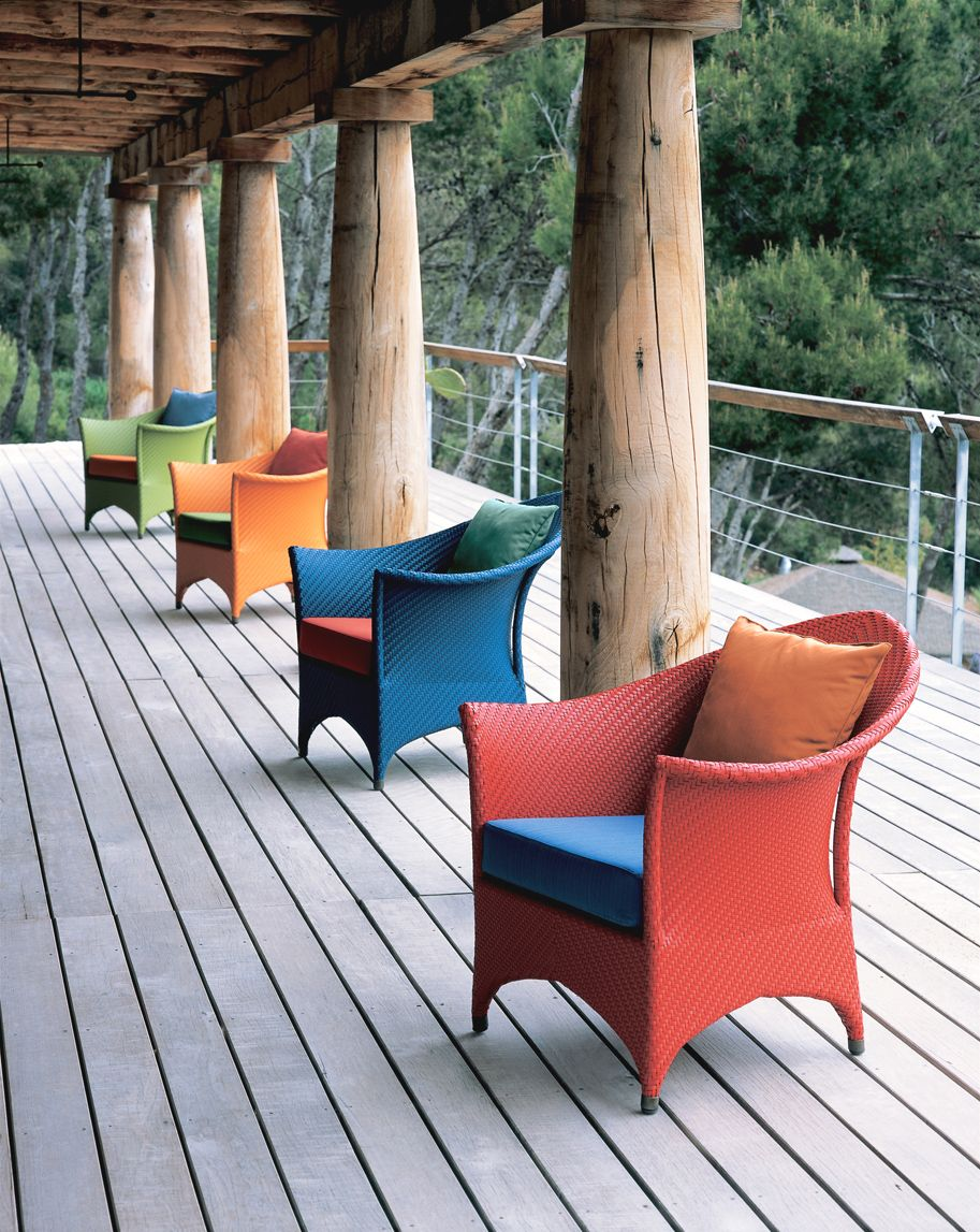 colorful Marrakesh lounge chairs designed by Richard Frinier for Dedon - Colorful Marrakesh Lounge Chairs Designed By Richard Frinier For
